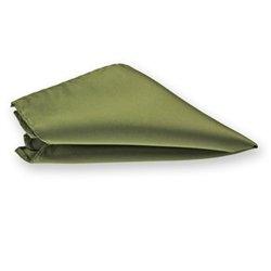 Olive Green Solid Color Pocket Square