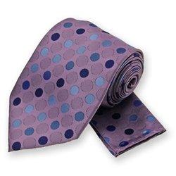 Purple Dots Tie and Pocket Square Set