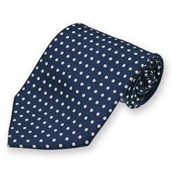 Navy Blue Newport Dotted Silk Tie