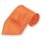 Orange Newport Dotted Silk Tie