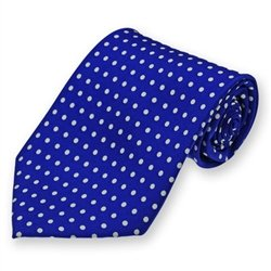 Royal Blue Newport Dotted Silk Tie