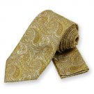 Sunflower Yellow Classic Paisley Tie and Pocket Square Set