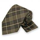 Brown Lennox Plaid Tie and Pocket Square Set