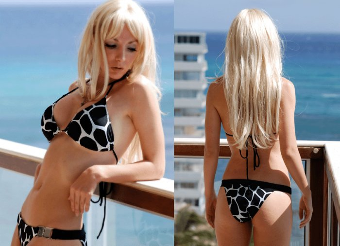 *M* *HOT Brazilian Bikini SET*Animal Print Padded Swimsuit NWT Medium