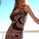 ♡♥S Brown Shimmer Swimsuit Beach Cover Coverup Dress Small ♡
