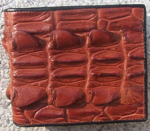 100% Genuine Big Tail Brown Alligator wallet