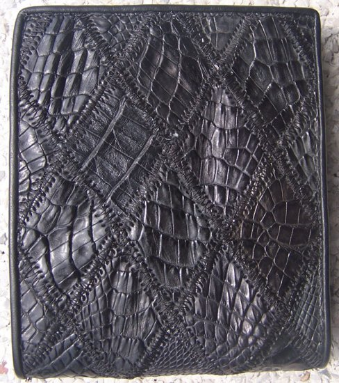100% Genuine Black Crocodile Scrap Skin Wallet