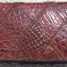 100% Genuine Brown Crocodile 3 Folds Wallet
