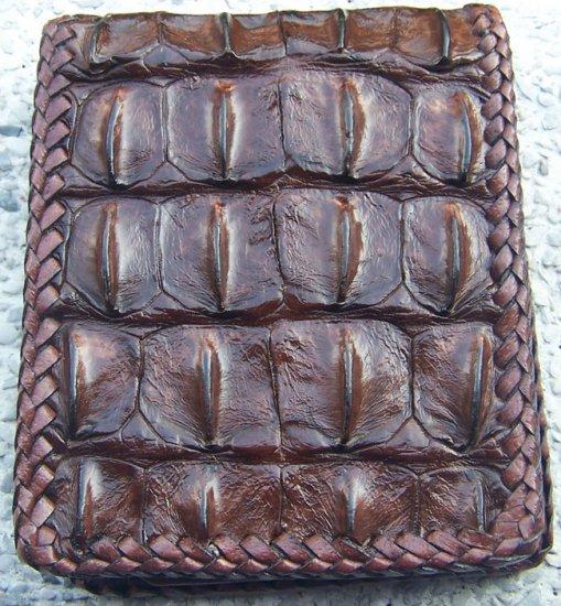 100% Genuine Chocolate Backbone Crocodile skin wallet
