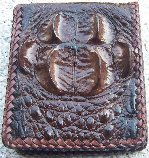 100% Genuine Chocolate Hornback Crocodile skin wallet