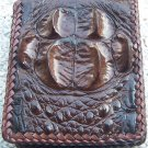 100% Genuine Chocolate Hornback Crocodile skin wallet