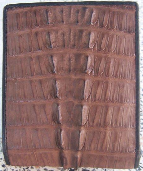 100% Genuine Dark Brown Tail Crocodile Skin Wallet