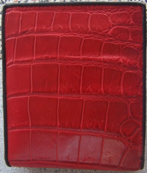 100% Genuine Red Crocodile Skin Leather Wallet