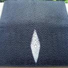 100% Genuine Black Stingray Checkbook Wallet