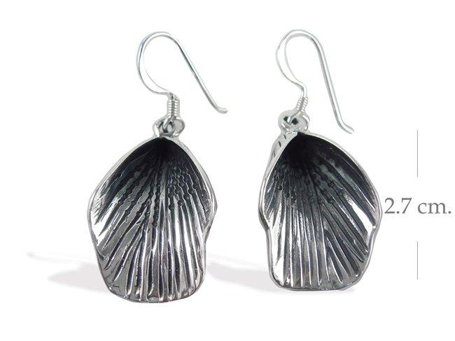Modern Black Sterling Silver Dangle earrings