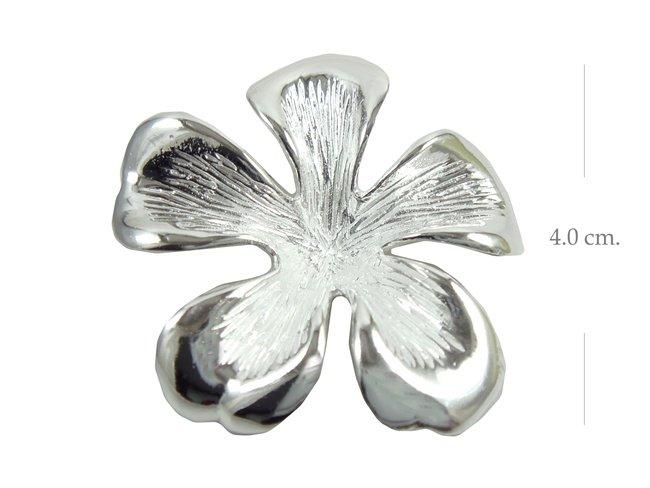 925 Sterling Silver Bali Flower Pendant