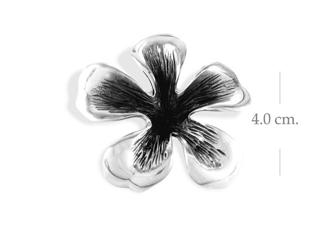Classic Sterling Silver Flower Pendant