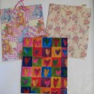 Assorted Gift Bags Teddy Bears, Hearts and Floral 10 1/4 x 12 3/4