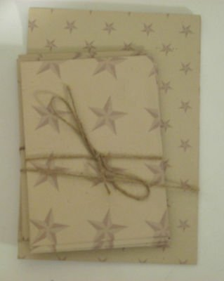 Star Theme on Beige Background Vintage Sheets and Envelopes