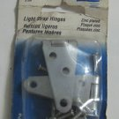 "Light Strap Hinges Steel Zinc Plated 2"" Vintage Pack of 2"
