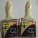 "Latex Paint Brush 4"" Polyester from Valu Line 2 Packs"