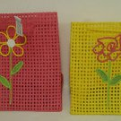 Colorful Flower Print Gift Bags Pink & Yellow