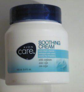 Avon Care Soothing Cream Cold Cream Cleanser with Soybean 3.4 fl. oz.