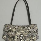 Victoria's Secret Evening Gold Leaf Pring Tote Handbag