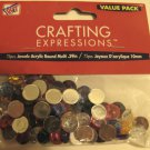 Round Multicolored Crafting Rhinestone Gems Acrylic  75 Piece