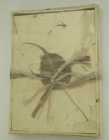 Handcrafted Blank Journal Petals and Grass Buttercream, in Box 5 1/4 x 7 1/4