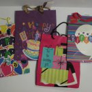 Happy Birthday Assortment of  Paper Gift Bags, 10 1/2 x 12 3/4, Set of 4