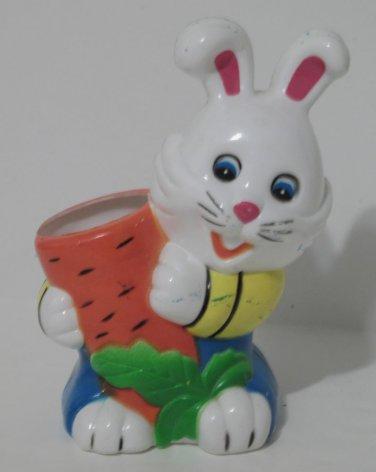 Children's Desk Plastic Pen & Pencil Holder Rabbit with Carrot