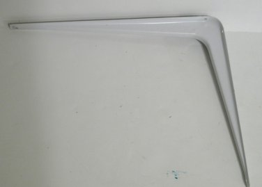 """Stanley White Metal Shelf Bracket Leg 12�x14"""""""