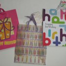 Paper Gift Bags Happy Birthday Assortment, set of 3