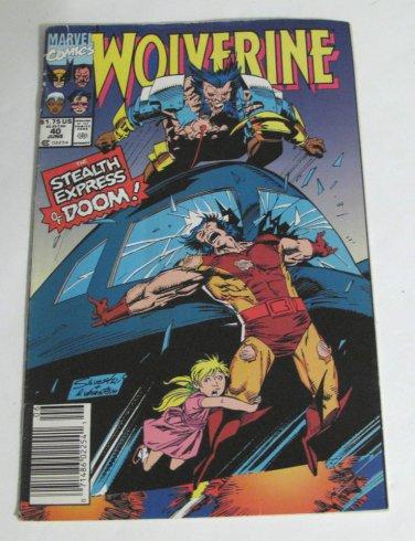 Marvel Comic Wolverine No 40 June 1991