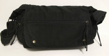 Black Flapped Purse 6 Pockets
