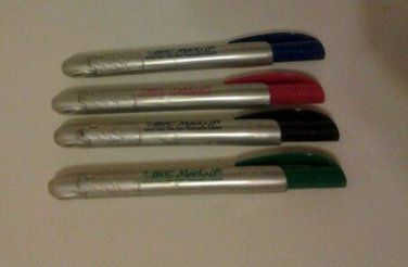 Bic Mark it Retractable Point Permanent Marker Fine Point Set of 4