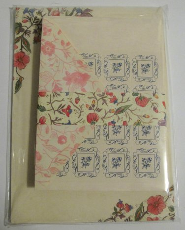 Decorative Writing Paper with Matching Envelopes in Rigid Cardboard Keeper