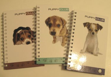 Spiral Bound Hardcover Journals, Puppy Club Series, Set of 3