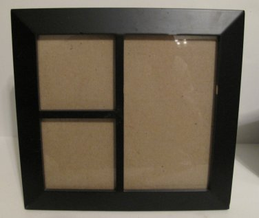 Black Collage Photo Frame for 3 Photos