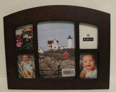 Burnes Collage Tabletop Photo Frame Holds 5 Photos Dark Finish