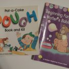 2 Paperback Books: Pat a Cake Dough Book and Beginning Fun With Water & Bubbles