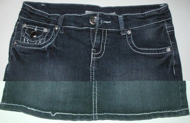 Blue Denim 5 Pocket Mini Skirt, Size M