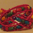 Multicolored Beaded Bangle Bracelet