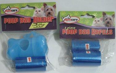 Dog Poop Bag Keeper and Bag Refills