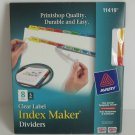 Avery Clear Lable Index Maker Dividers 8 Tabs, 5 Sets #11419