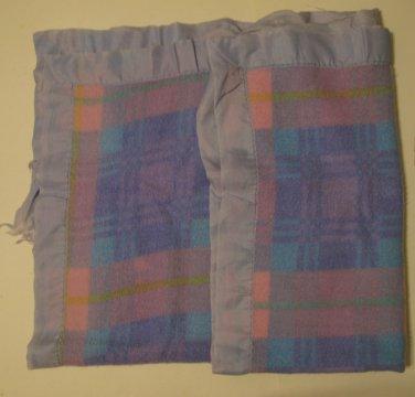 "Vintage Multi-colored Plaid Baby Blanket 37"" x 44"" Unisex 100% Acrylic"