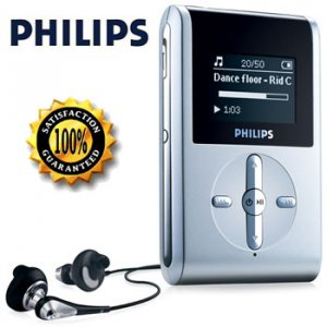 PHILIPS 2GB MP3 PLAYER  FM RADIO