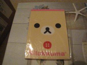 Kawaii San-x Rilakkuma face large memo pad B