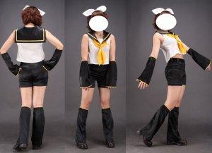 Miku Hatsune Cosplay Costume 32, Any Size!